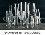 different glassware on dark...   Shutterstock . vector #241020589