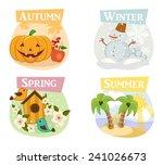 four seasons flat icons  winter ... | Shutterstock .eps vector #241026673