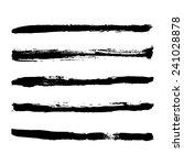 black strokes of paint | Shutterstock .eps vector #241028878