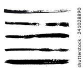 black strokes of paint | Shutterstock .eps vector #241028890
