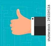 thumb up | Shutterstock .eps vector #241034116