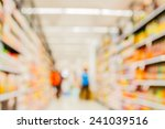 supermarket in blurry for... | Shutterstock . vector #241039516
