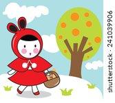 little red riding hood  | Shutterstock .eps vector #241039906