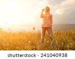 happiness woman stay outdoor