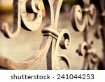 Metal Fence Detail. Abstract...