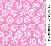 pink background with roses | Shutterstock .eps vector #241044760