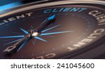 compass with needle pointing... | Shutterstock . vector #241045600