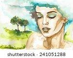 Fancy Watercolor Illustration ...