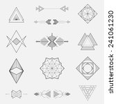 Set of geometric shapes, triangles, line design, vector | Shutterstock vector #241061230