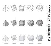 platonic solids  vector... | Shutterstock .eps vector #241061236