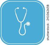 stethoscope icon. vector... | Shutterstock .eps vector #241062658