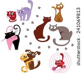 cats | Shutterstock .eps vector #241069813