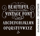 hand drawn vintage vector abc... | Shutterstock .eps vector #241070608