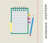 notebook with pencil vector icon | Shutterstock .eps vector #241075594