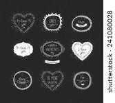 vintage love labels  frame and... | Shutterstock .eps vector #241080028