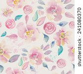 watercolor floral seamless... | Shutterstock . vector #241080370