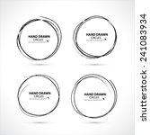hand drawn circles. vector... | Shutterstock .eps vector #241083934