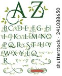 ornate drop cap vector alphabet ... | Shutterstock .eps vector #241088650
