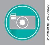icon camera vector illustration. | Shutterstock .eps vector #241090600