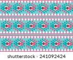 seamless ethnic geometric... | Shutterstock .eps vector #241092424