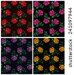 four vector floral patterns... | Shutterstock .eps vector #241097944