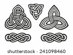 medieval celtic knot tattoo... | Shutterstock .eps vector #241098460