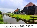 beautiful zaanse schans village ... | Shutterstock . vector #241103320