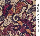 Paisley Floral Seamless Patter...
