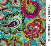 colorful paisley seamless... | Shutterstock .eps vector #241106950