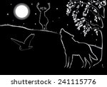 summer night landscape with... | Shutterstock .eps vector #241115776