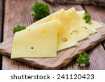 Sliced Cheese  Close Up Shot ...