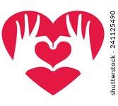 hands making heart shape ... | Shutterstock .eps vector #241125490