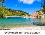 beautiful beach in assos... | Shutterstock . vector #241126834