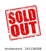 sold out red stamp text on white | Shutterstock .eps vector #241136008