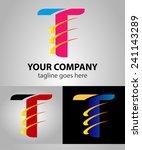 abstract letter t vector logo... | Shutterstock .eps vector #241143289