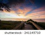 sunset on the beach in florida   Shutterstock . vector #241145710