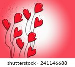 beautiful brilliant red hearts... | Shutterstock . vector #241146688
