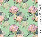 summer flower seamless pattern   Shutterstock . vector #241146940