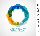 symmetric abstract geometric... | Shutterstock .eps vector #241148179