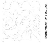 dashed line arrow set  sketch... | Shutterstock .eps vector #241152220