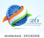 3d ashoka wheel covered by... | Shutterstock .eps vector #241162426