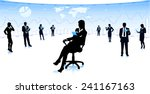 business woman in chair | Shutterstock .eps vector #241167163