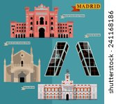 sights of madrid. spain  europe.... | Shutterstock .eps vector #241168186