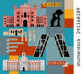 sights of madrid. spain  europe.... | Shutterstock .eps vector #241168189