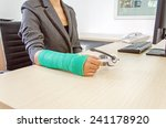 injured businesswoman with... | Shutterstock . vector #241178920