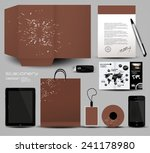 stationery set design | Shutterstock .eps vector #241178980