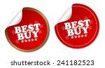 best buy stickers | Shutterstock .eps vector #241182523