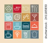 set of simple icons for bar ... | Shutterstock .eps vector #241185850