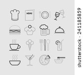 set of simple icons for bar ... | Shutterstock .eps vector #241185859