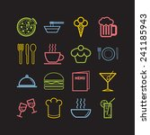 set of simple icons for bar ...   Shutterstock .eps vector #241185943